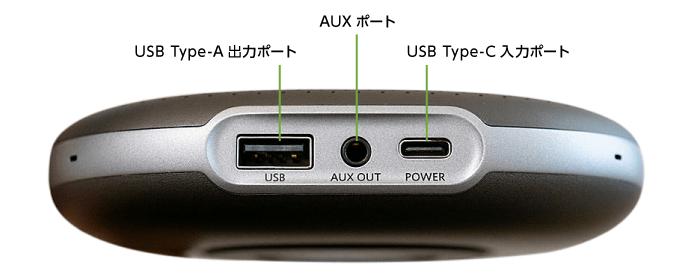 会議用マイクスピーカー Anker PowerConf(背面)