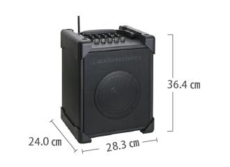 ワイヤレススピーカー20W オーディオテクニカ ATW-SP717 サイズ