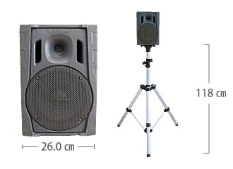 ワイヤレススピーカー60W パナソニック WS-X77 サイズ