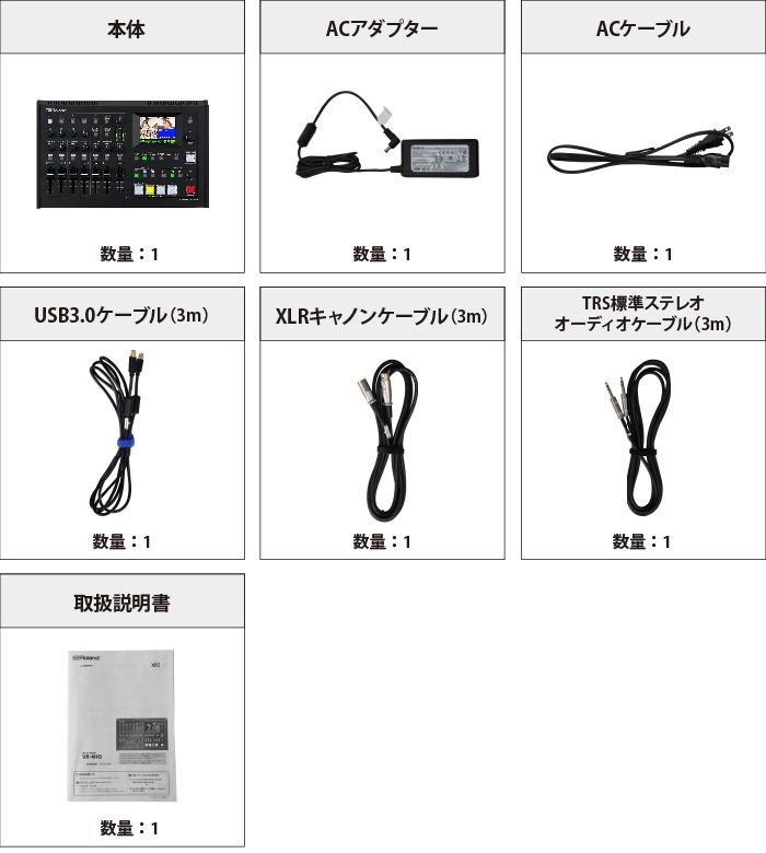 Roland AVミキサー VR-4HD 付属品の一覧