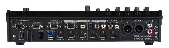 Roland AVミキサー VR-4HD(背面)