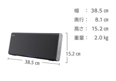 ソニー ポータブルスピーカー SRS-BTX500 画像2