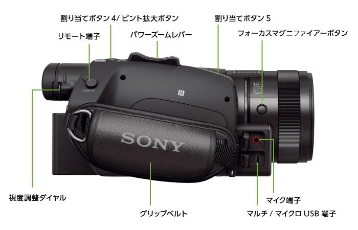 SONY FDR-AX700(※録画には別途メモリーカードが必要となります)(右側)