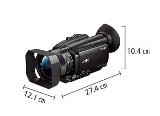 SONY FDR-AX700(※録画には別途メモリーカードが必要となります) サイズ
