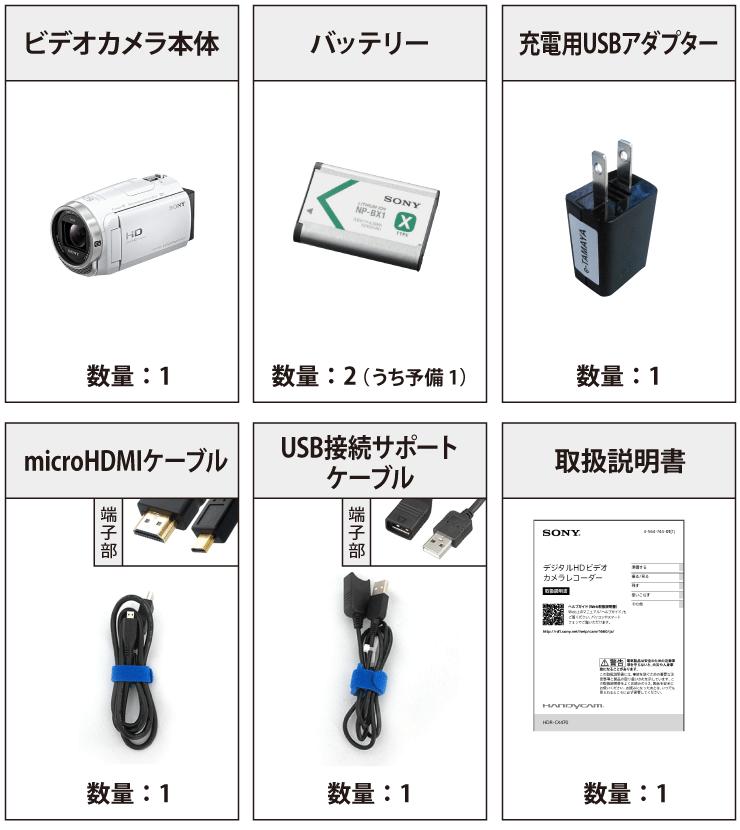 SONY HDR-CX470 付属品の一覧