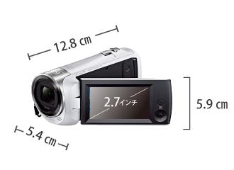SONY HDR-CX470 サイズ