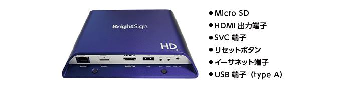 Bright Sign サイネージプレイヤー HD1024(前面)