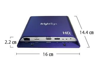 Bright Sign サイネージプレイヤー HD1024 サイズ