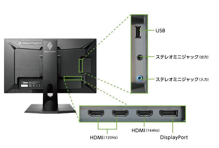 アイオーデータ 24型ゲーミング液晶 LCD-GC242HXB(背面)