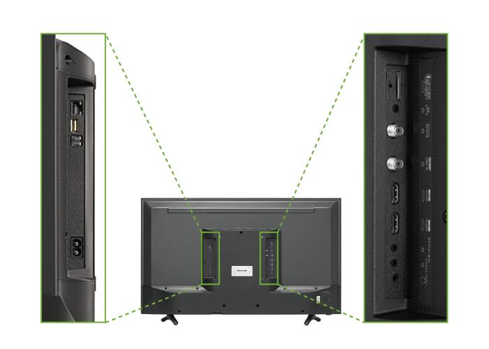 ハイセンス 32型液晶テレビ HJ32K3120(背面)