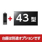 43型 液晶ディスプレイ KJ-43X8000E+スティックPC