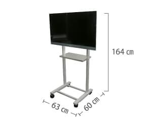 32型用 組立式テレビスタンド(スタンダードタイプ)【弊社レンタルモニター専用品】 サイズ