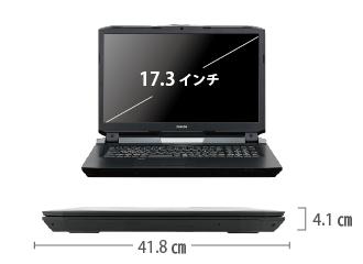マウスコンピューター DAIV-7N【マンスリーレンタル】  サイズ