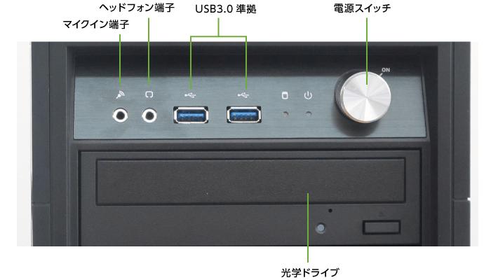 マウスコンピューター DAIV-DGX750H1-SH5(メモリ64GB)(前面)