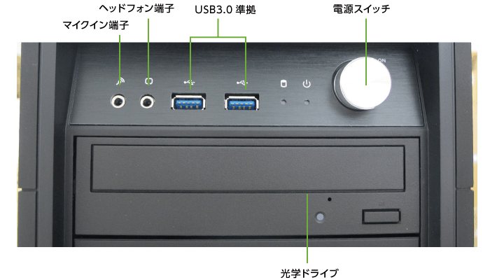 マウスコンピューター  DAIV-DGX750H2-M2SH5 レンタル【マンスリーレンタル】(前面)