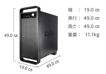 商品画像3 マウスコンピューターDAIV-DGX760H2-M2S5(i9/メモリ64GB/RTX2080)