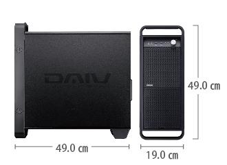 マウスコンピューター DAIV-DGZ530H3-M2S5 レンタル【マンスリーレンタル】 サイズ