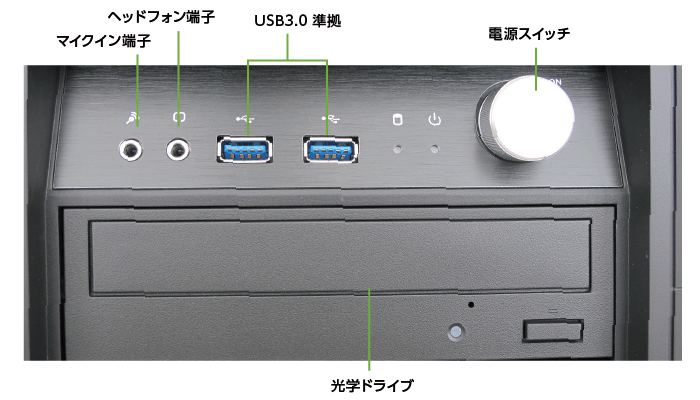 マウスコンピューター DAIV-DGZ530M3-M2S2【マンスリーレンタル】(前面)
