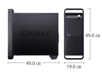 マウスコンピューター DAIV-DQZ520U3-SH5 レンタル【マンスリーレンタル】 サイズ