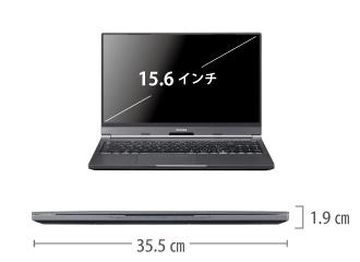 マウスコンピューター DAIV-5N(第2世代) サイズ