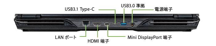 マウスコンピューター DAIV-5N-OLED(有機EL)(左側)