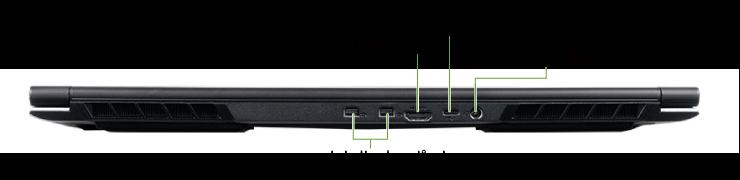 マウスコンピューター DAIV-NG5520M1-M2S5【マンスリーレンタル】(背面)