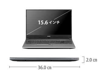 マウスコンピューター DAIV-NG5520M1-M2S5【マンスリーレンタル】 サイズ