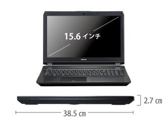 マウスコンピューター DAIV-NG5720S1-SH2【マンスリーレンタル】 サイズ