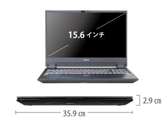 マウスコンピューター DAIV-NG5800M1-S55【マンスリーレンタル】 サイズ