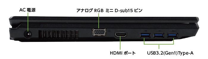 富士通 LIFEBOOK A5510/E(右側)