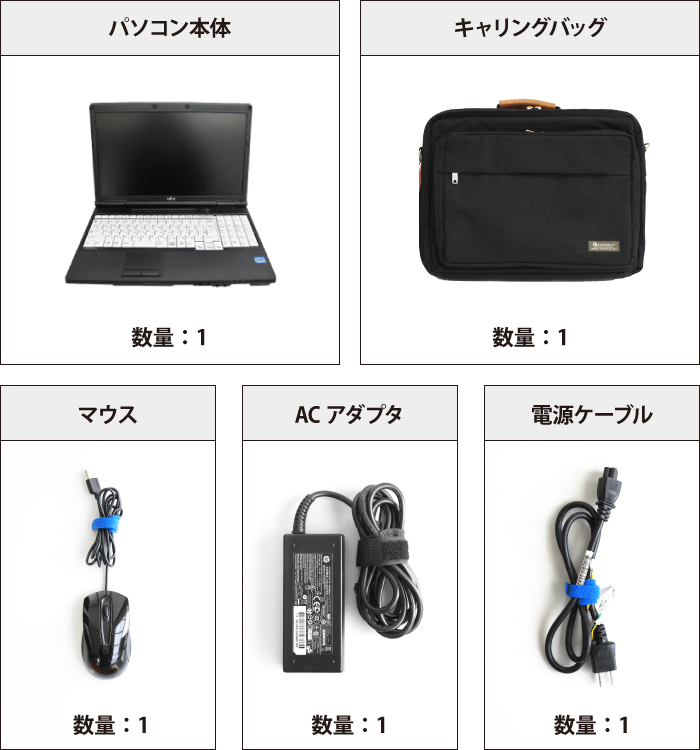 富士通 FMV-A574/MX 付属品の一覧