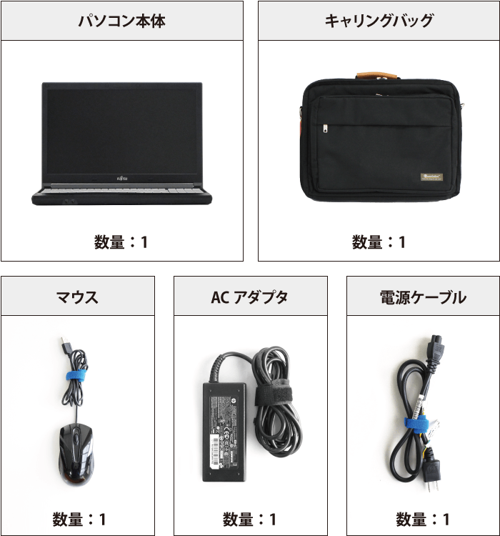 富士通 FMV-A579/CX 付属品の一覧