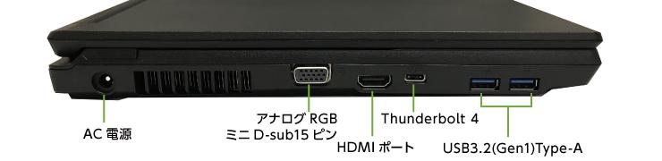 富士通 LIFEBOOK A7511/G(i7/メモリ32GB)(右側)