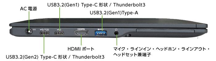 富士通 LIFEBOOK U9310/DX (左側)