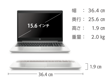 HP ProBook 450G6(メモリ16GB/256GB SSDモデル) 画像2