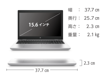HP ProBook 650 G5 (メモリ32GB/SSDモデル) 画像2