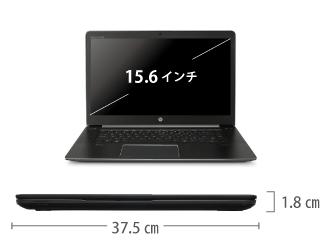 HP ZBook Studio G3 サイズ