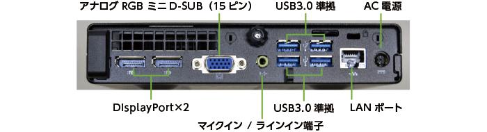 HP EliteDesk 800 G1 (i5モデル) キーボード・マウスセット(背面)