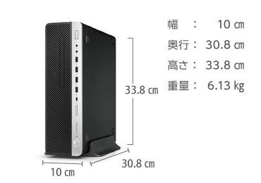 HP EliteDesk 800 G5 (i7/16GB/SSD マンスリーモデル) 画像2