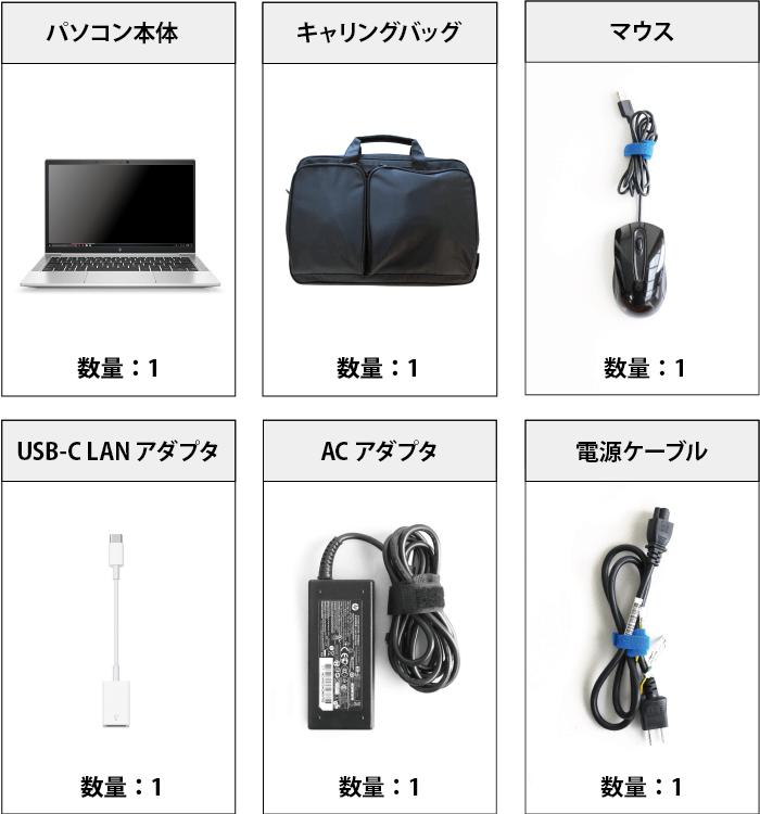 HP EliteBook 830 G7 SIMフリー 付属品の一覧