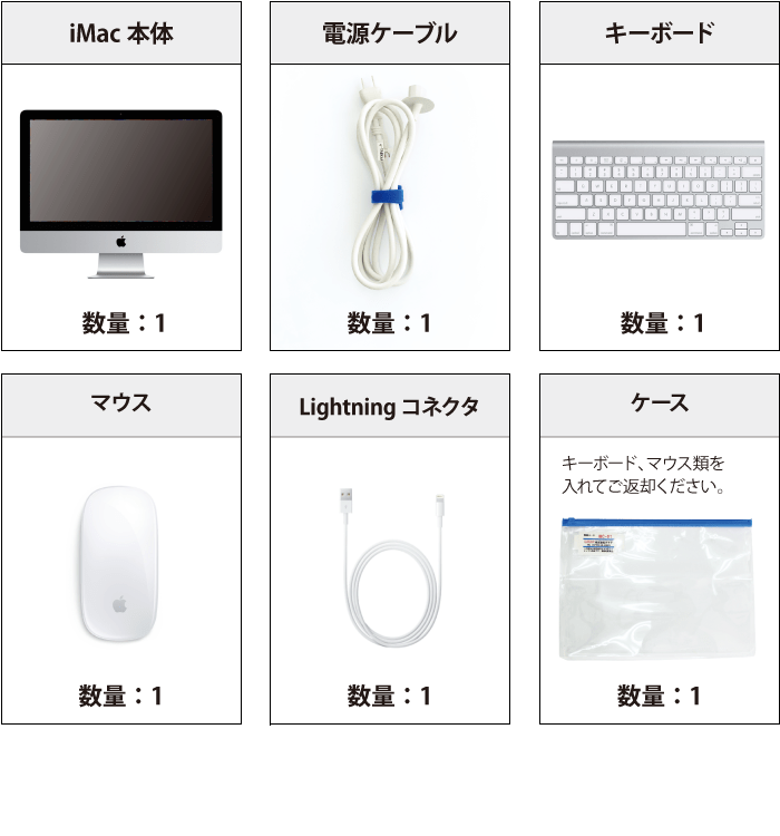 付属品 iMac Retina 21.5インチ(4K) Z0VYJ/A