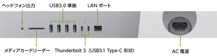 インターフェイス1 iMac Retina 21.5インチ(4K) Z0VYJ/A