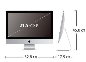 サイズ画像 iMac Retina 21.5インチ(4K) Z0VYJ/A