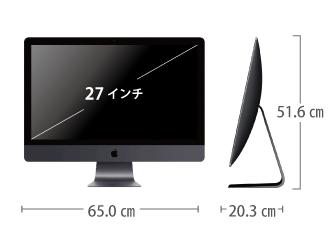 iMac Pro 27インチ Z0UR サイズ