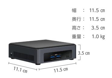 intel NUC NUC7I5DNKPC キーボード・マウスセット 画像2