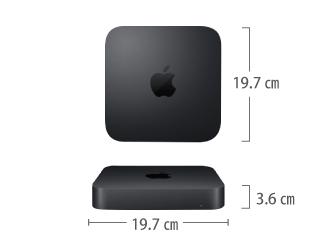 Mac mini Z0ZT サイズ