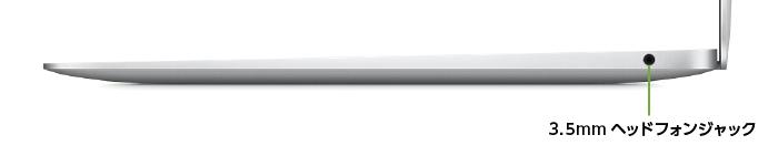 MacBook Air 13インチ Z128(右側)