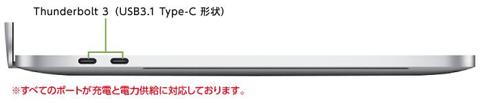 MacBook Pro Retina 13インチ MPXR2J/A(左側)