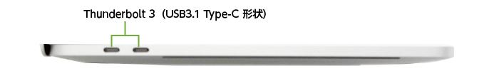 MacBook Pro Retina 13インチ MWP72J/A(左側)