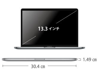 MacBook Pro Retina 13インチ Z0W7 サイズ